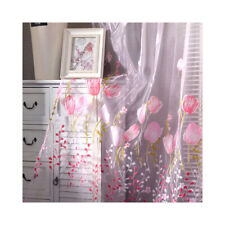 Sheer Voile Curtains Floral Sheer Net Window Curtains Drapes 1 Panel Multicolor