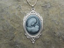 STUNNING VIRGIN MARY/BABY JESUS CAMEO NECKLACE!! MOTHER / BABY--GREAT GIFT!!!
