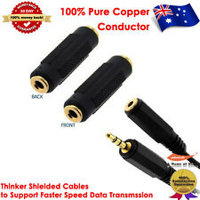 1.0M Gold Plated 3.5mm Stereo Audio M/F Extension Cable+3.5mm Stereo Coupler F/F