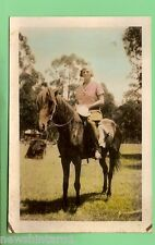 UNSENT  POSTCARD - WOMAN ON A HORSE