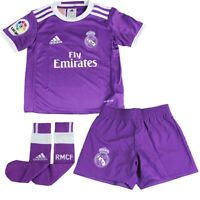 Adidas Real Madrid Auswärts Minikit lila Kinder Fly Emirates Shirt Shorts Socken