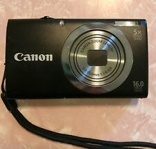 Canon PowerShot A2300 16.0MP Digital Camera Black With USB Cord