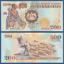 Lesotho 200 malotis 2001 UNC p.20 B