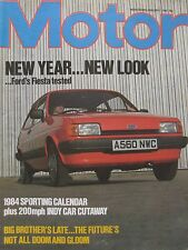 Motor magazine 7/1/1984 featuring Ford Fiesta road test, March 83C cutaway