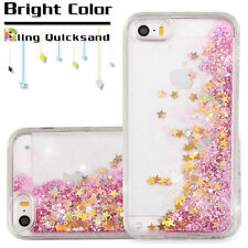 Apple iPhone 5 5s SE Bling Hybrid Liquid Glitter Rubber Protective Case Cover
