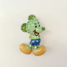 New Green Cartoon Disney Mickey Mouse Shape Pendant Charm Brooch Pin Gif BR1344A
