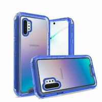 For Samsung Galaxy Note 10 Plus + 6.8 inch Premium Transparent Case Clear Blue