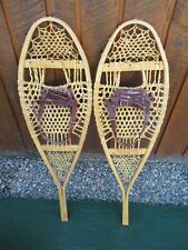"SNOWSHOES 37"" Long x 11"" Wide with Leather Bindings"