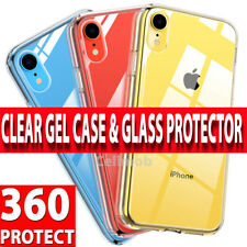 360 Case For iPhone XR XS 8 Ultra Slim Clear Gel Cover & Glass Screen Protector