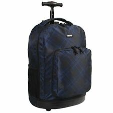J World Cross Rolling Backpack 18in School Campus Travel Carry On Bag