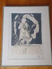 """Lithographie , Salvador Dali , """" Les Contes Drolatiques de Pantagruel """" n° 3"""