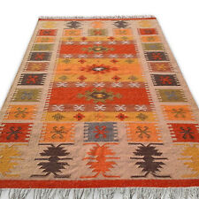 ORIGINAL Handmade Afghan Tribal Chobi Kilim Wool REVERSIBLE Rug 150x240cm