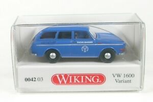 VW 1600 Variante - fuchs Excavatrice (Bleu) 1969-1973 1:87 WIKING