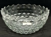 """Indiana Glass Whitehall American 9 """" salad bowl Thick heavy serving bowl large"""