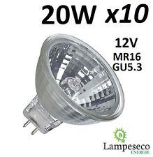 10 Ampoules Dichroique Halogène 30% Economique MR16 GU5.3 12V 20W (14W) 3000h