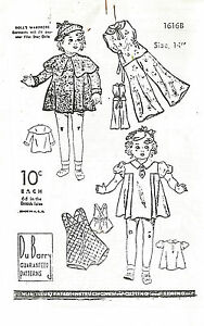 """VINTAGE PATTERN  for 14"""" COMPOSITION  SHIRLEY DOLL"""
