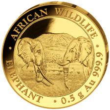 Elefant Elephant 2020 0,5 Gramm Gold Or Somalia Somalie