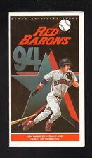 Scranton/Wilkes-Barre Red Barons--1994 Pocket Schedule--Pizza Hut--Phillies