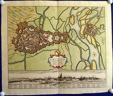 STRASSBURG - Befestigungsgrundriss und Stadtansicht Homann 1734 Original!