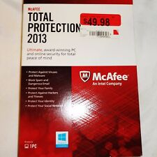 McAFEE MTP13EMB1RAAN Total Protection 2013 for 1PC NEW SEALED Ultimate Security