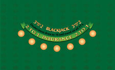 Blackjack table layout choice of 4 colors bj pays 3 to 2