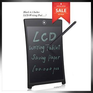 LCD E Writing Tablet Writing Drawing Memo Message Black Writing Board UK Seller