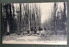 CPA. PONT Ste MAXENCE. 60 - Equipage d'Halatte. Poteau de la Futaie. Départ.1905