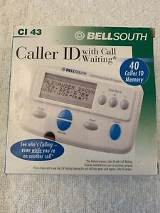 Bell South Caller ID With Call Waiting CI 43 White 40 Caller ID Memory New