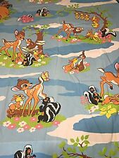 Vintage Disney Bambi & Forest Friends Curtain & Valance Sears Fabric Cutter