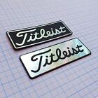 TITLEIST - Aluminum Metallic Logo Sticker - 2.75 inch by 1 inch - 70 mm / 25 mm