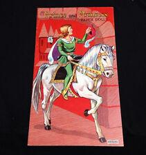 Original Vintage Saalfield Prince And Princess Paper Dolls White Horse Uncut