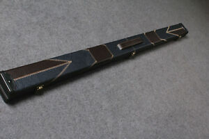 3/4 Handmade Patchwork Snooker Pool Hard Cue Case E6144-1