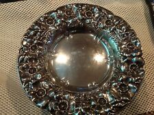 """Antique Sterling Silver Footed 9.5"""" X 4"""" Bowl"""