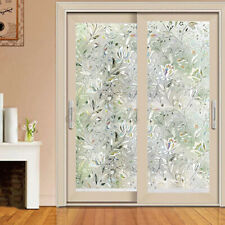 200cm 3D Frosted Window Film Glass Sticker Decor PVC Privacy No Glue Waterproof