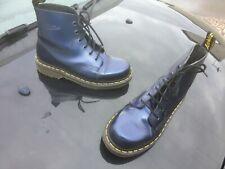 Vintage Dr Martens 8175 blue shimmer leather boots UK 4 EU 37