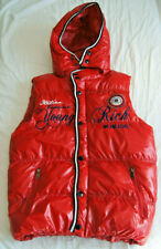 Young & Rich Giacca Uomo Gilet 8984 Rosso PARTY jacket sleeveless S red hooded