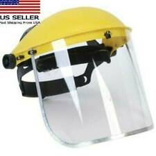 Clear Head-mounted Safety Full Face Eye Grinding Shield Protective Screen -USH