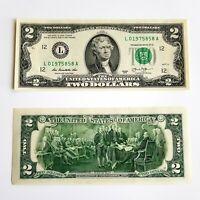 MONETA DOLLARO statunitense * serie di $2 due dollari in contanti UNC