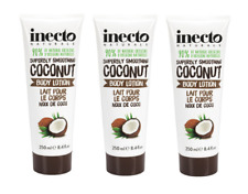 THREE Inecto Naturals COCONUT BODY LOTION 250ml  Easily Absorbed  Coconut Oil