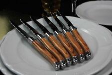 6 Steakmesser LAGUIOLE Kunsfstoff Griff Braun Besteck Messer Set Besteckset NEU