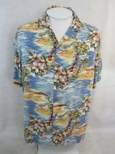 ISLAND SHORES Men Hawaiian ALOHA shirt pit to pit 24 L floral camp luau tropical