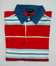GANT Men's Heavy Rugger Multi Stripes Long Sleeve Rugby Polo T-Shirt Size-Large