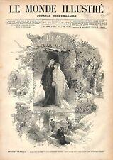 Théâtre-Français Comédie Française Paris Rome Vaincue de Parodi GRAVURE 1876