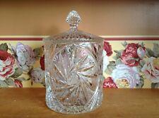 Beautiful large crystal pinwheel design biscuit jar cannister humidor
