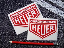 CHRONOGRAPH HEUER Stickers 11cm F1 Classic Mclaren Williams Ferrari Lotus Leman