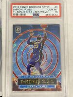 Lebron James 2019-20 Donruss Optic SSP RED WAVE T-MINUS PSA 10 Lakers POP 2