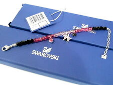 Swarovski Raspberry Bracelet Heart Star Beading Rock & Roll Crystal 1128082 MIB