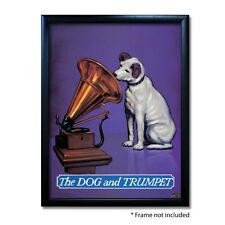 DOG & TRUMPET PUB SIGN POSTER PRINT | Home Bar | Man Cave | Pub Memorabilia