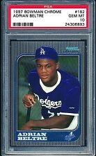Adrian Beltre Rangers 1997 Bowman Chrome #182 Rookie Card rC PSA 10 Gem Mint