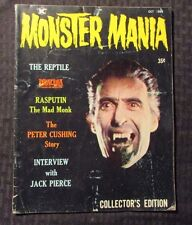 1966 MONSTER MANIA Magazine #1 VG- Dracula - Christopher Lee - Peter Cushing